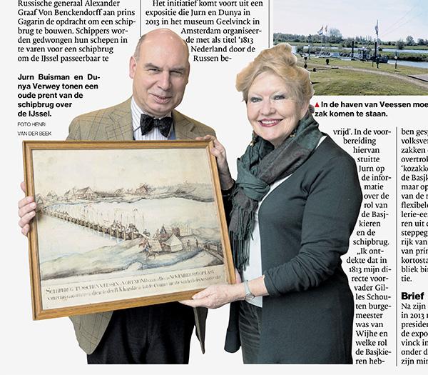 Dunya Verwey en Jurn Buisman, initiatiefnemers van de herdenkingsbeelden rond Veesen en Wijhe